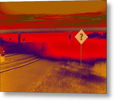 You Are Where Metal Print by Wendy J St Christopher