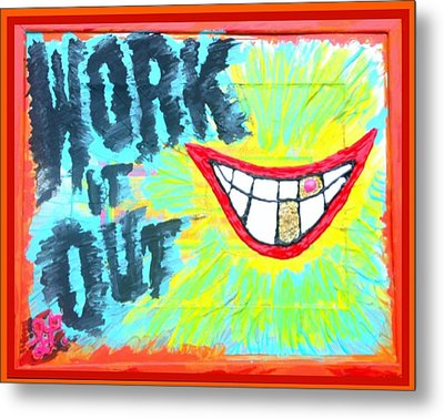 Metal Print featuring the painting You Better Work It Out by Lisa Piper