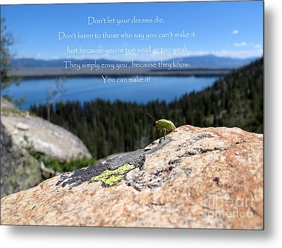Metal Print featuring the photograph You Can Make It. Inspiration Point by Ausra Huntington nee Paulauskaite
