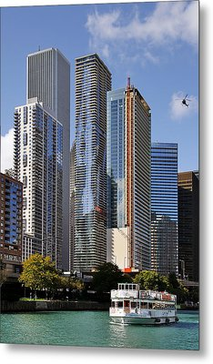 You Haven't Seen Chicago Until You've Been On The River Metal Print