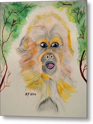 You Silly Monkey Metal Print by Maria Urso