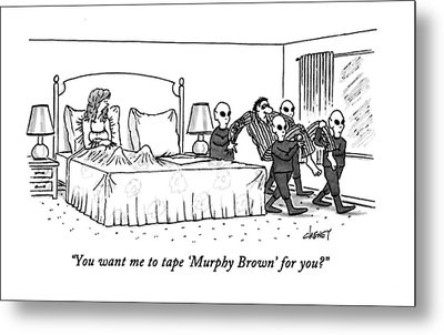You Want Me To Tape 'murphy Brown' For You? Metal Print by Tom Cheney