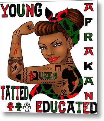Young Afrakan Tatted And Educated Metal Print