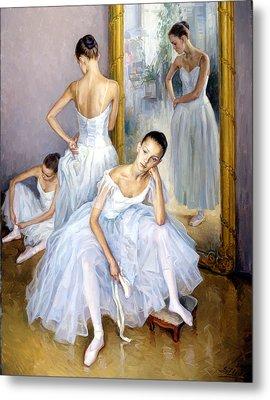 Young Ballerinas Metal Print