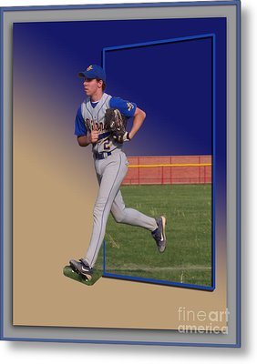 Young Baseball Athlete Metal Print by Thomas Woolworth