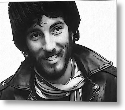 Young Bruce Springsteen Metal Print
