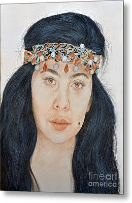 Young Filipina Beauty With A Mole Model Kaye Anne Toribio  II Metal Print