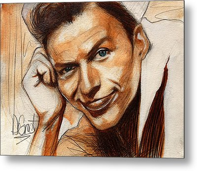 Young Frank Sinatra Metal Print by Gregory DeGroat