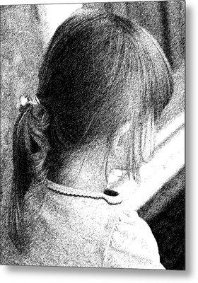 Young Girl Metal Print