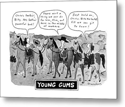 Young Gums Metal Print by Danny Shanahan