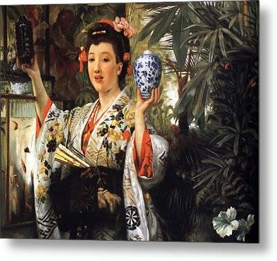 Young Japanese Lady Metal Print