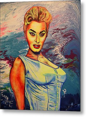 Metal Print featuring the painting Young Lady.sophia. by Viktor Lazarev