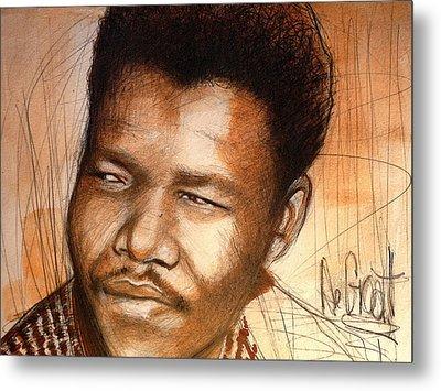 Young Mandela Metal Print