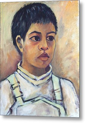 Young Mexican Boy Metal Print