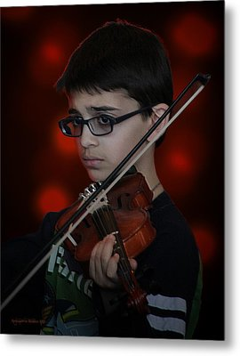 Young Musician Impression # 3 Metal Print