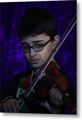 Young Musician Impression # 5 Metal Print