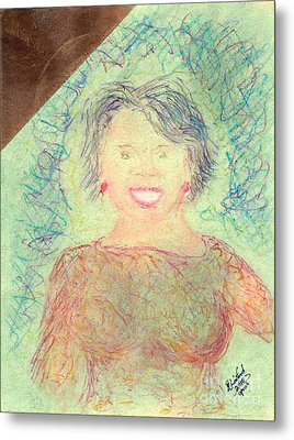 Young Oprah At The Opera 1 Pop Natural Metal Print by Richard W Linford