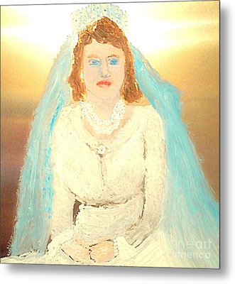Young Queen Elizabeth 1 Metal Print by Richard W Linford