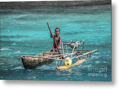 Metal Print featuring the photograph Young Seaman by Jola Martysz