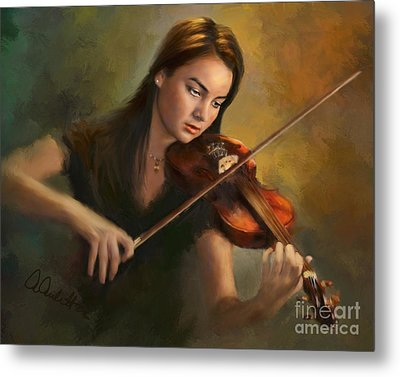 Young Soloist Metal Print by Andrea Auletta