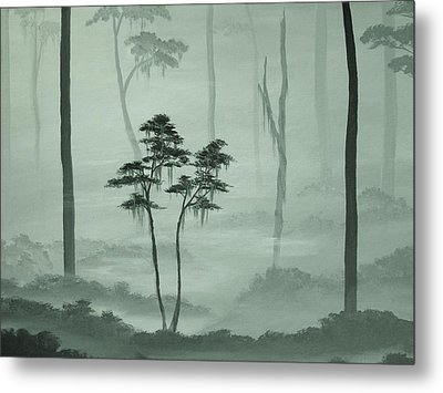 Young Tree In An Old Forest Metal Print by Anna Bronwyn Foley