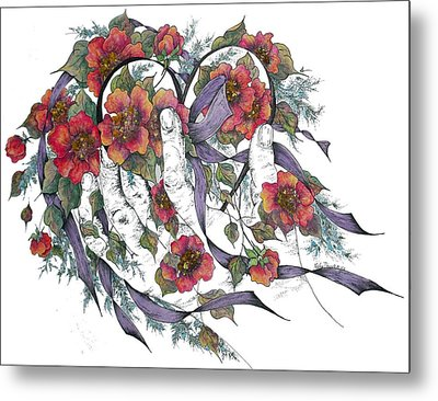 Your Heart In God's Hand Hide And Seek Metal Print by Meldra Driscoll
