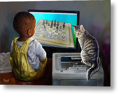 Your Move Metal Print by Anthony Mwangi