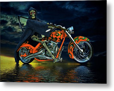 Your Ride Awaits Metal Print by Steven Agius