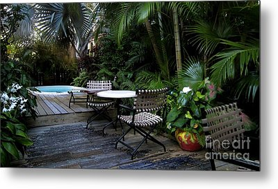 Your Table Is Ready Metal Print by Claudette Bujold-Poirier
