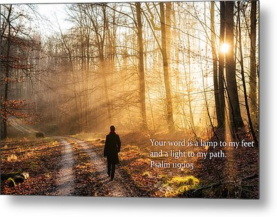 Your Word Is A Light To My Path Bible Verse Quote Metal Print