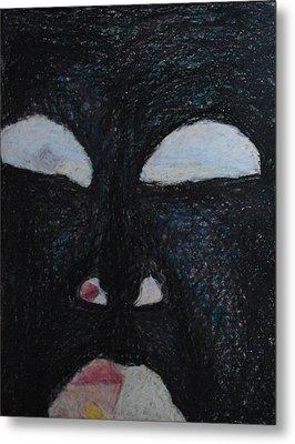 You're Standing In My Eye Metal Print by Nancy Mauerman