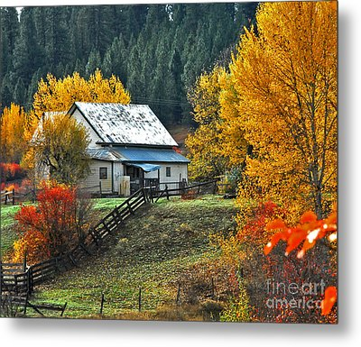 Yourn Barn Metal Print