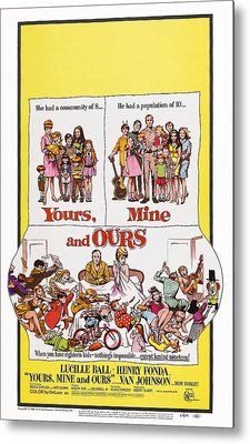 Yours, Mine And Ours, Us Poster Art Metal Print by Everett