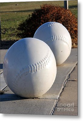 Youth Baseball Park Metal Print by Yumi Johnson