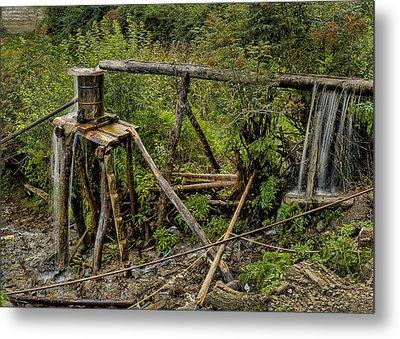 Yubeng Water Works Metal Print by James Wheeler