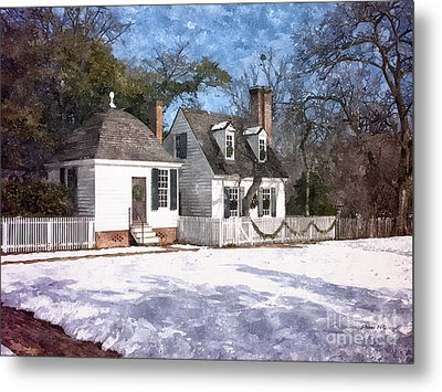 Yule Cottage Metal Print