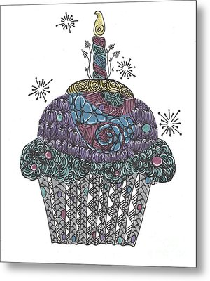 Yummy Cupcake Metal Print