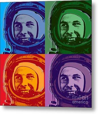 Yuri Gagarin  Metal Print by Jean luc Comperat