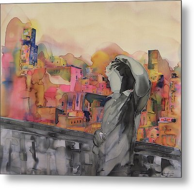 Z And The City Metal Print by Carolyn Doe