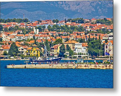 Zadar Waterfront Sea Organs View Metal Print