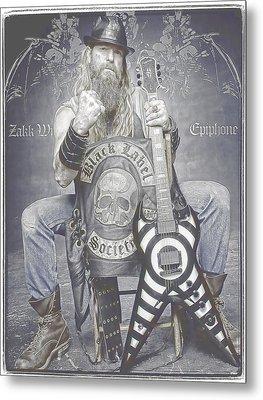 Zakk Wylde 2 Metal Print
