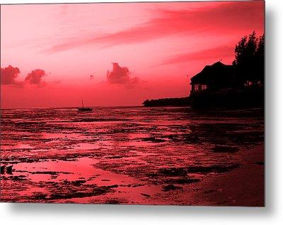 Zanzibar Sunrise Metal Print by Aidan Moran