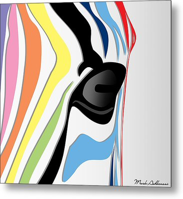 Zebra 1 Metal Print by Mark Ashkenazi
