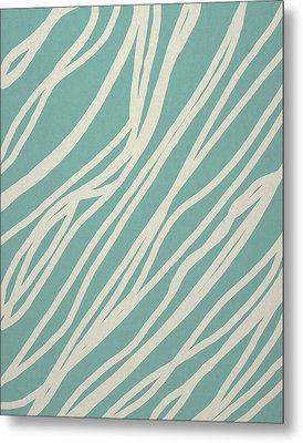 Zebra Metal Print by Aged Pixel