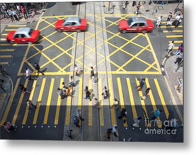 Zebra Crossing - Hong Kong Metal Print by Matteo Colombo