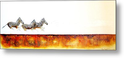 Zebra Crossing - Original Artwork Metal Print