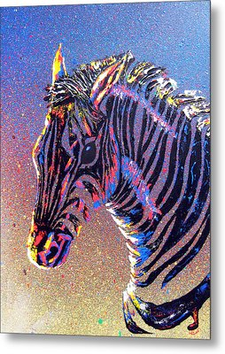 Zebra Fantasy Metal Print