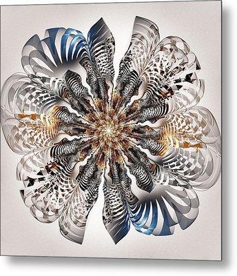 Zebra Flower Metal Print by Anastasiya Malakhova