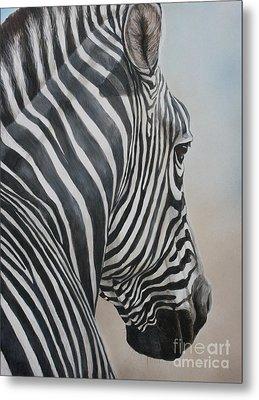 Zebra Look Metal Print by Charlotte Yealey