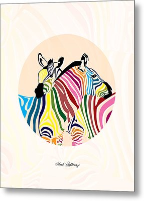Zebra  Metal Print by Mark Ashkenazi